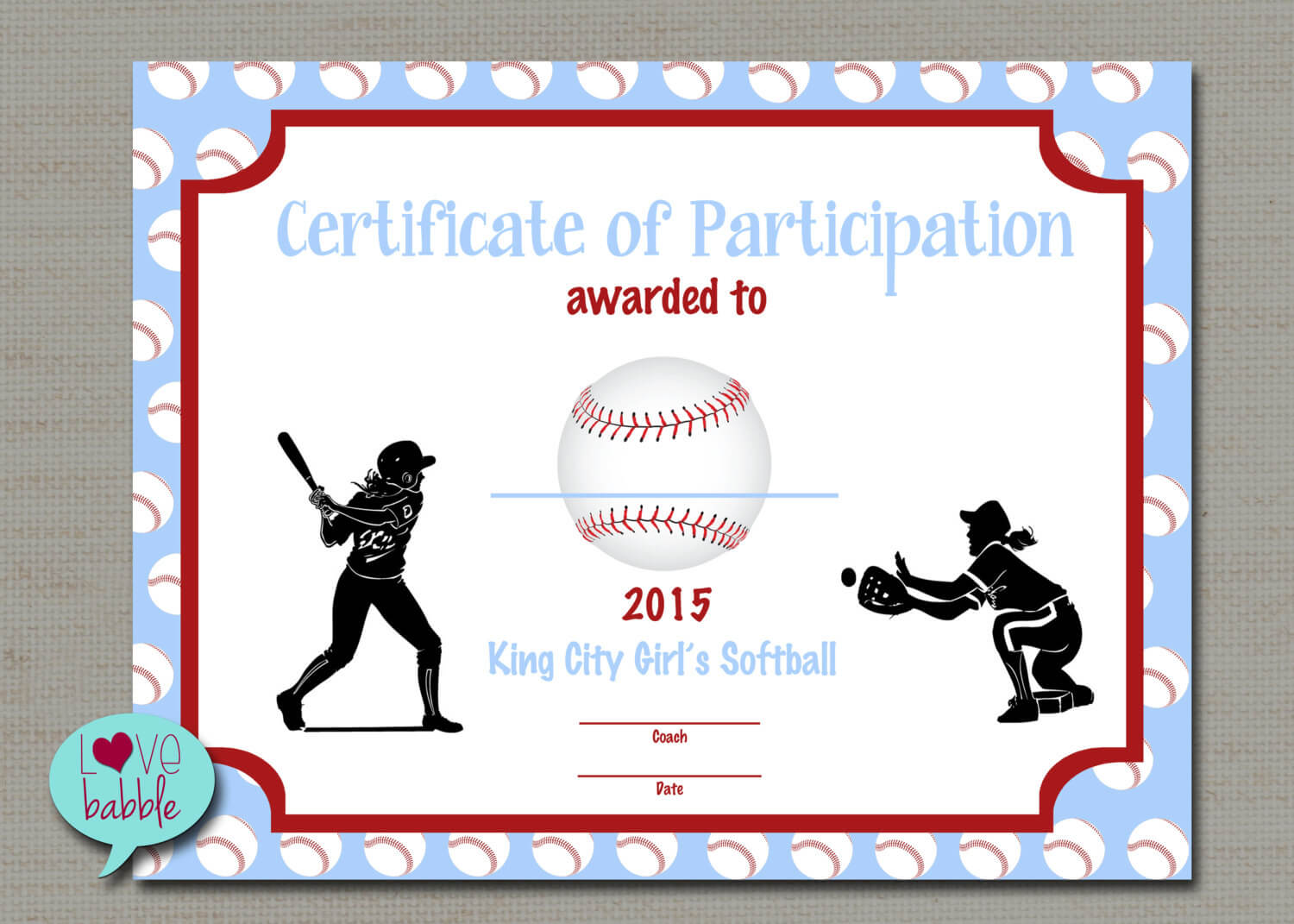 Free Printable Baseball Award Certificates Templates Regarding Free Softball Certificate Templates