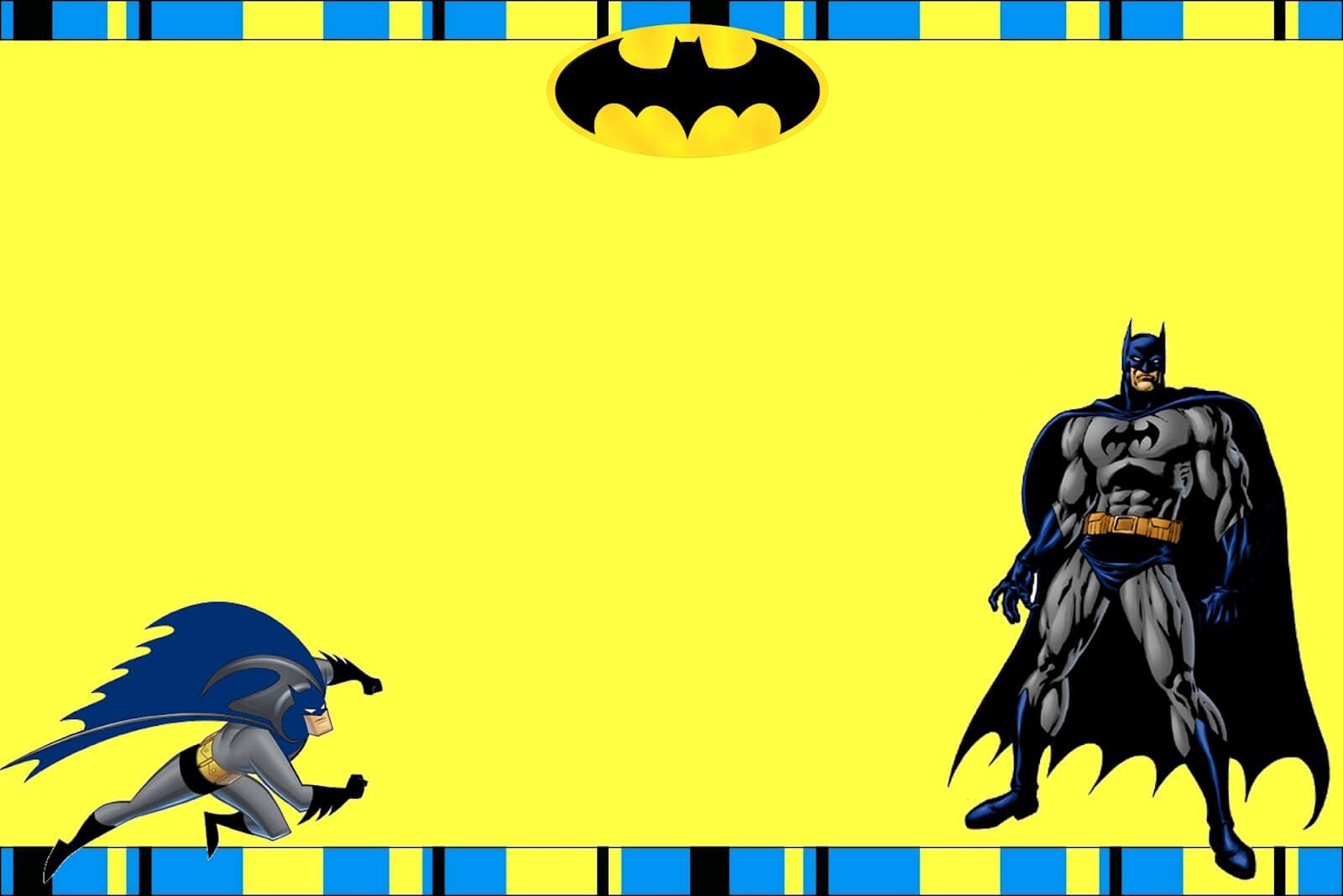 Free Printable Batman Birthday Invitations With Batman Birthday Card Template