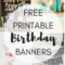 Free Printable Birthday Banners – The Girl Creative For Diy Birthday Banner Template