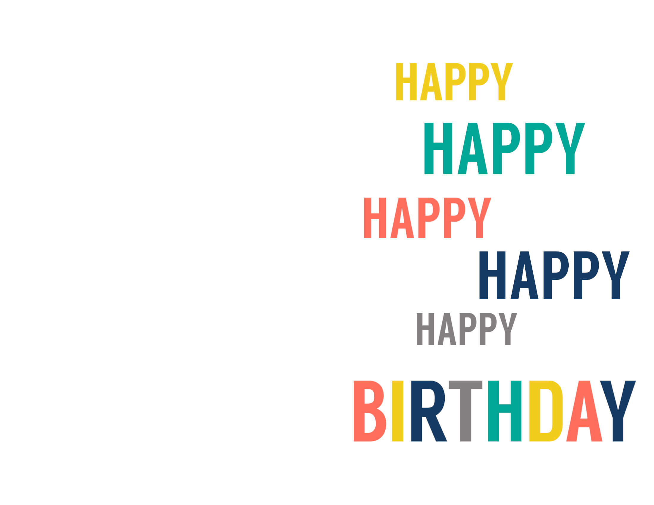 Free Printable Birthday Cards – Paper Trail Design With Template For Cards To Print Free