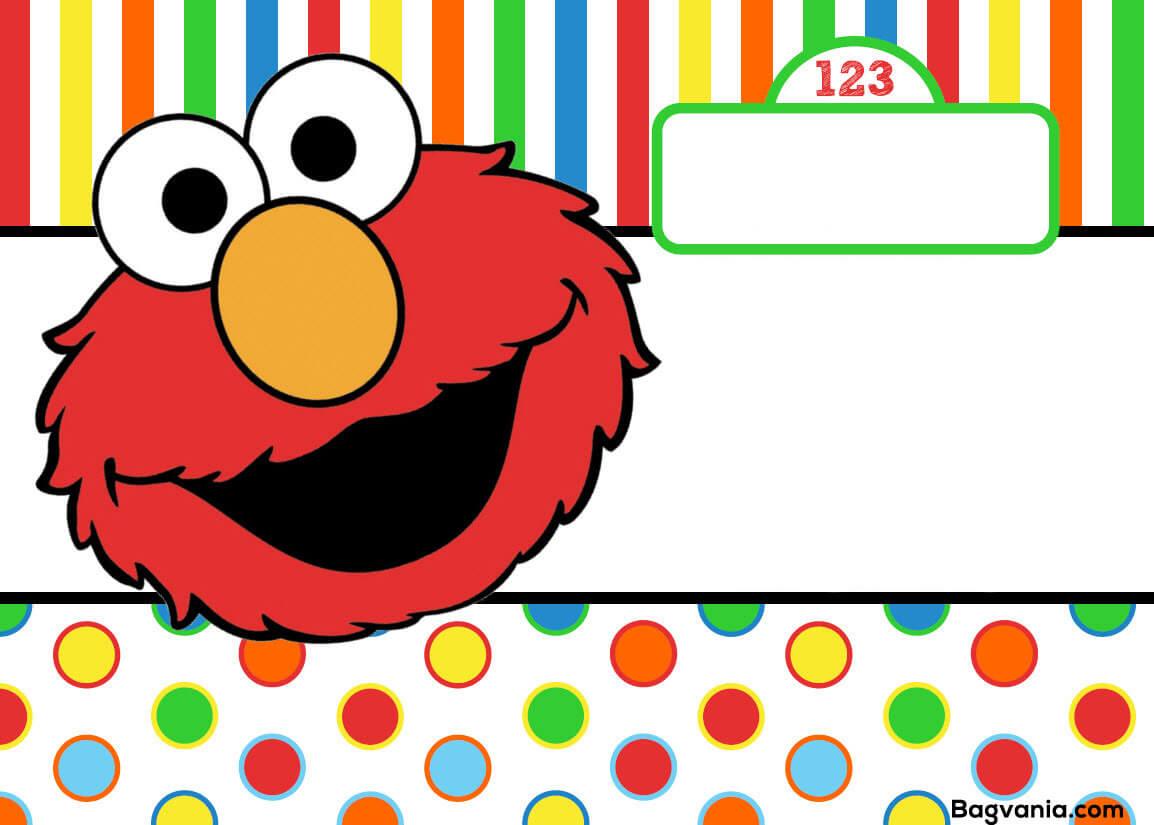 Free Printable Elmo Birthday Invitations – Bagvania Pertaining To Elmo Birthday Card Template