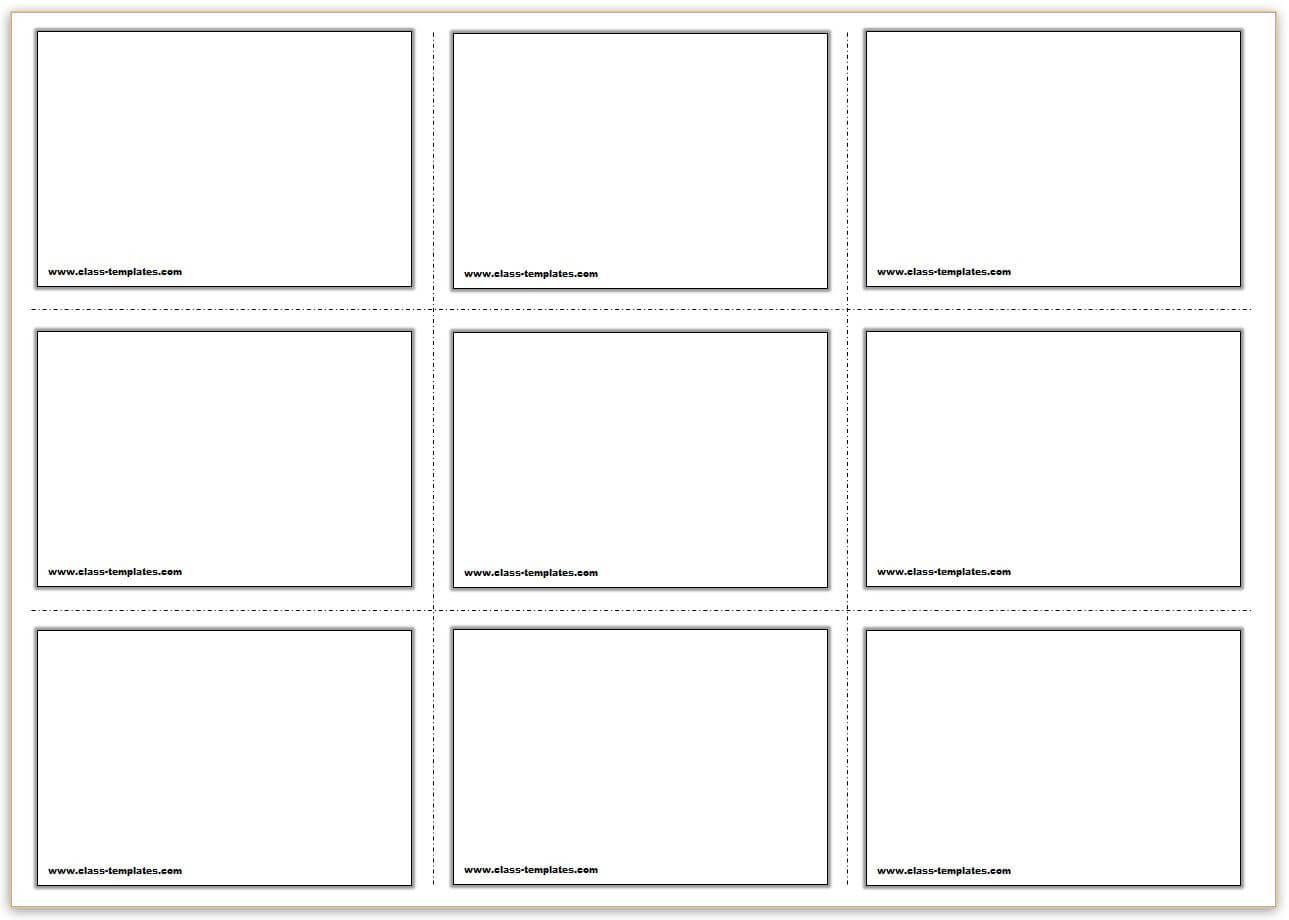 Free Printable Flash Cards Template Regarding Queue Cards Template