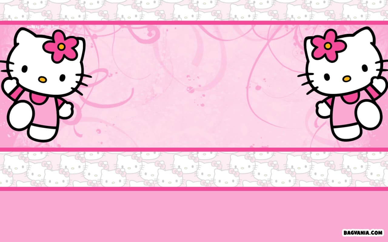 Free Printable Hello Kitty Background Invitation Template Inside Hello Kitty Birthday Card Template Free