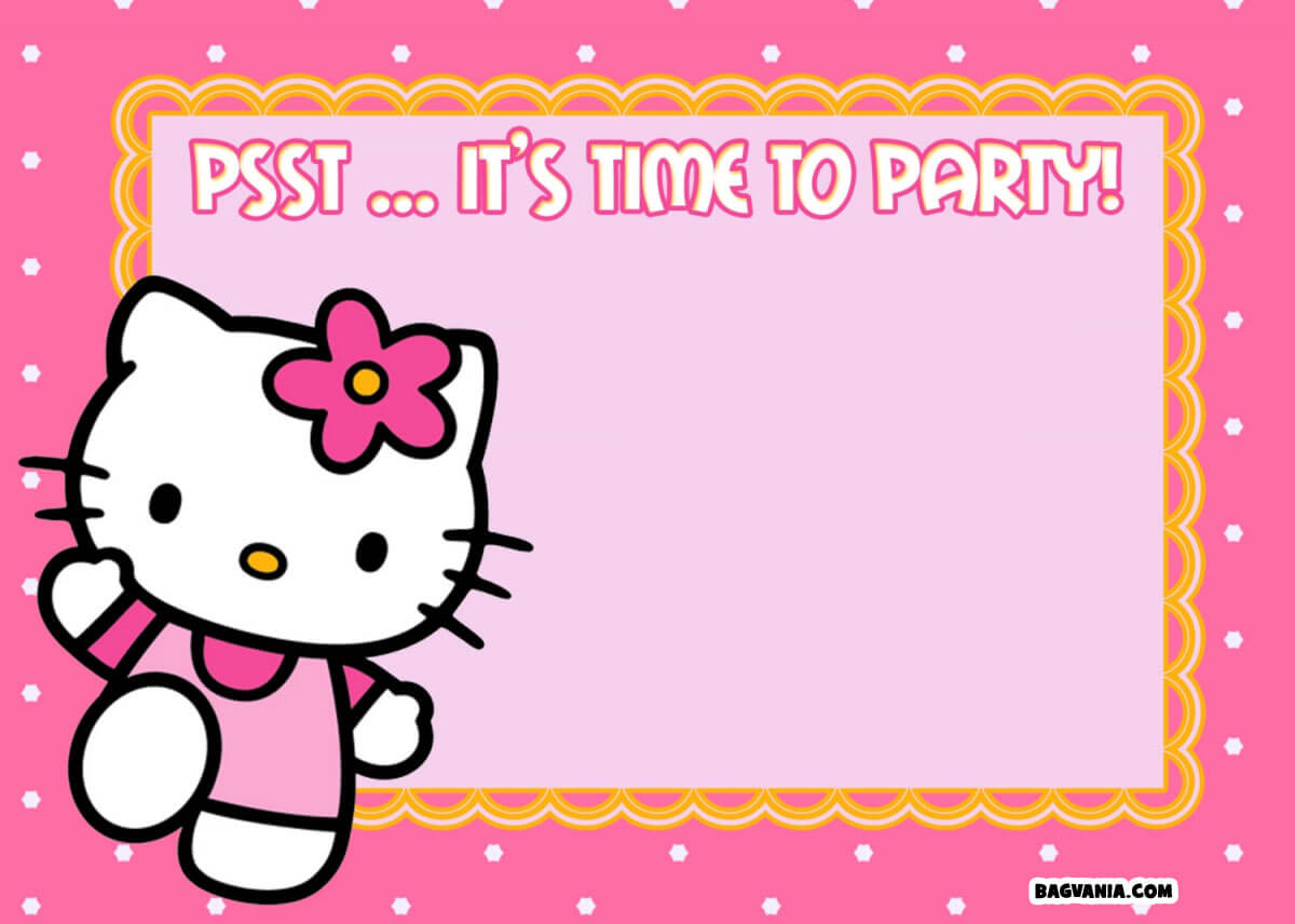 Free Printable Hello Kitty Birthday Invitations – Bagvania With Hello Kitty Birthday Card Template Free