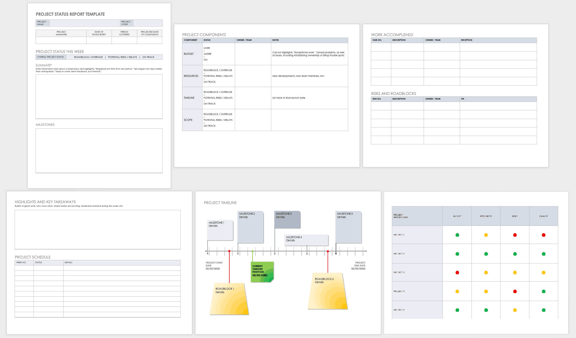 Free Project Report Templates | Smartsheet Throughout Project Manager Status Report Template