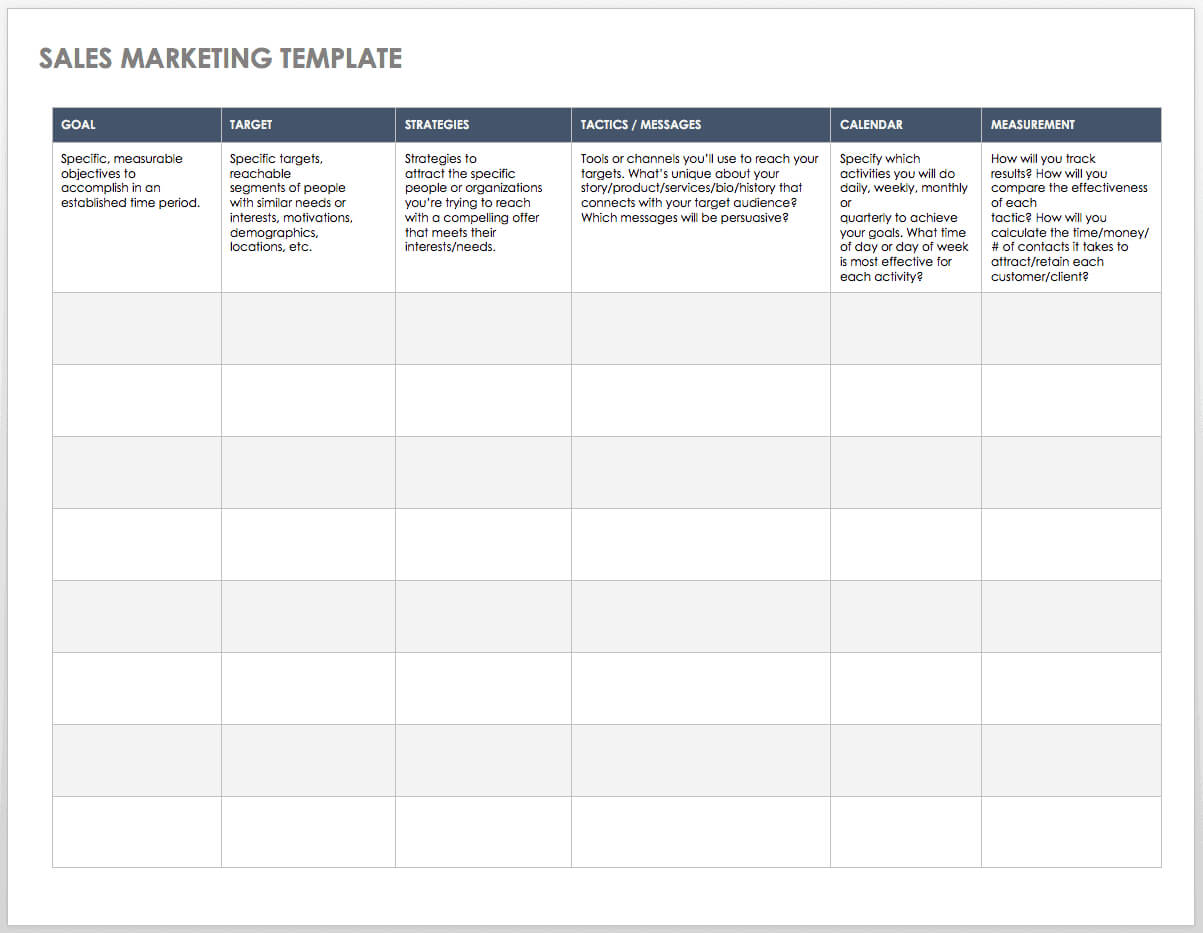Free Sales Pipeline Templates | Smartsheet Inside Sales Lead Report Template