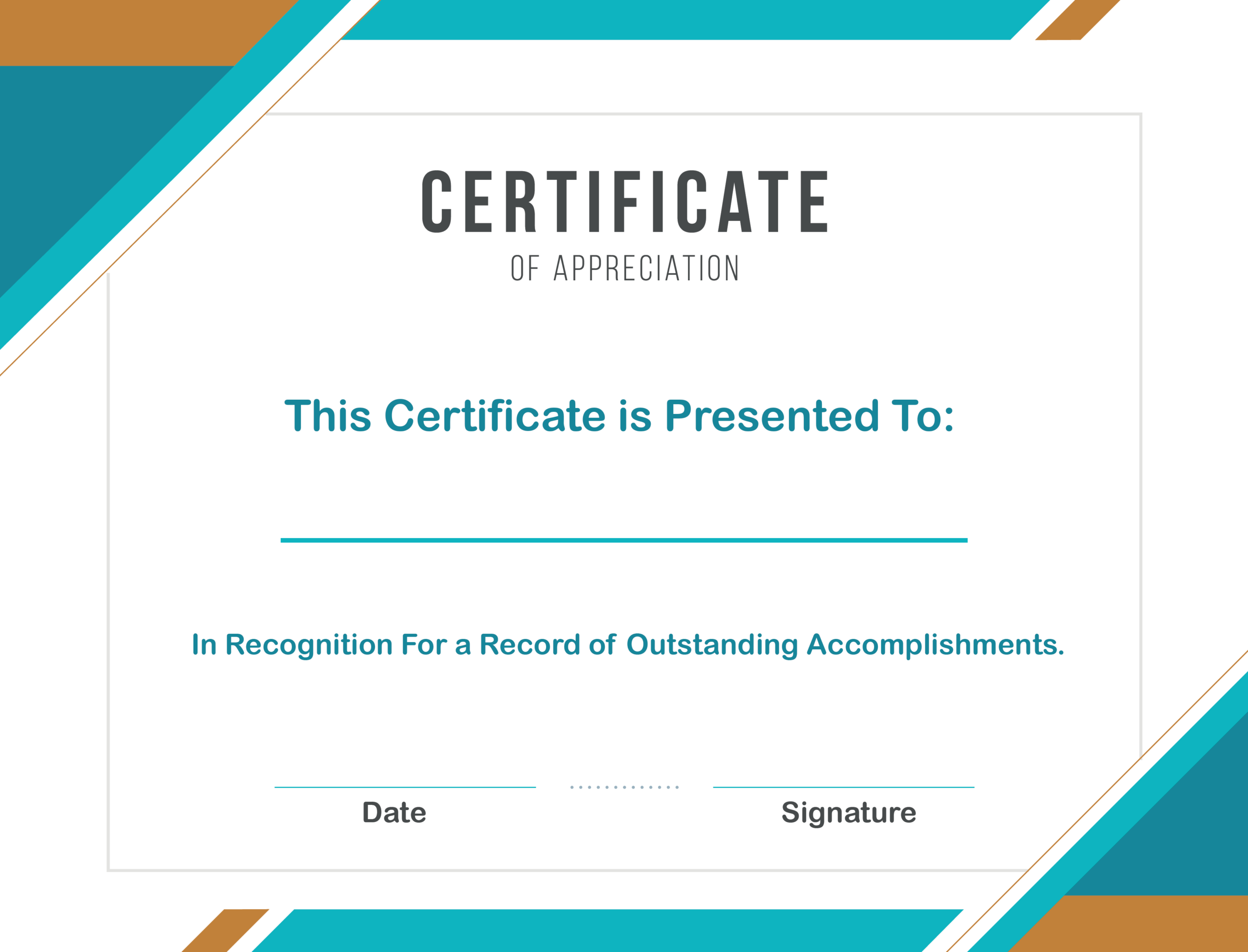 Free Sample Format Of Certificate Of Appreciation Template With Certificate Of Recognition Word Template
