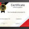 Free Sample Format Of Certificate Of Participation Template With Certification Of Participation Free Template