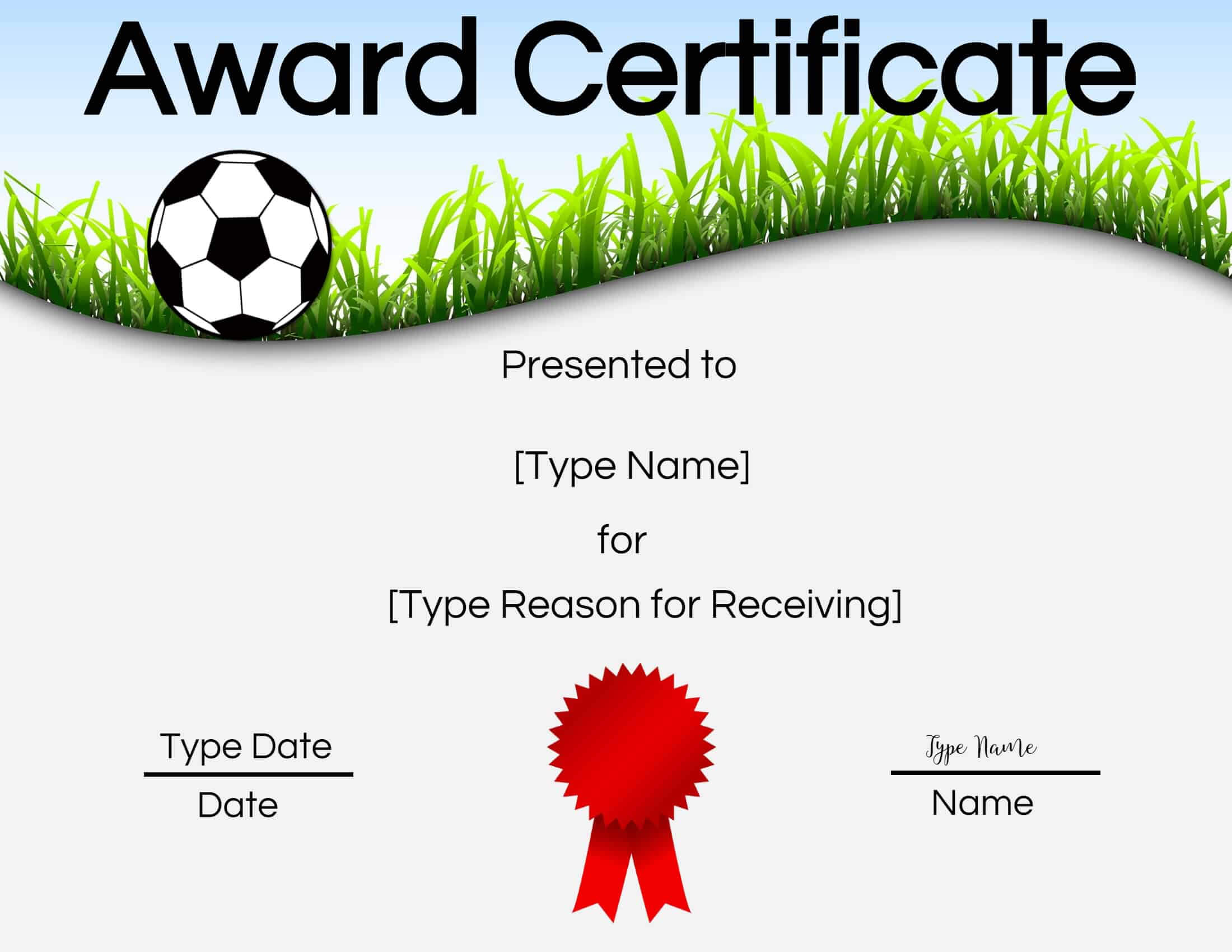 Free Soccer Certificate Maker | Edit Online And Print At Home In Soccer Certificate Template