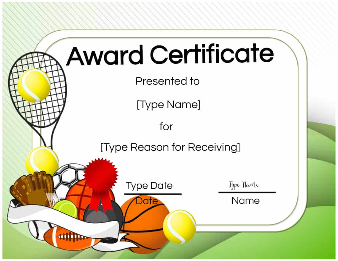 Free Tennis Certificates | Edit Online And Print At Home With Tennis Certificate Template Free