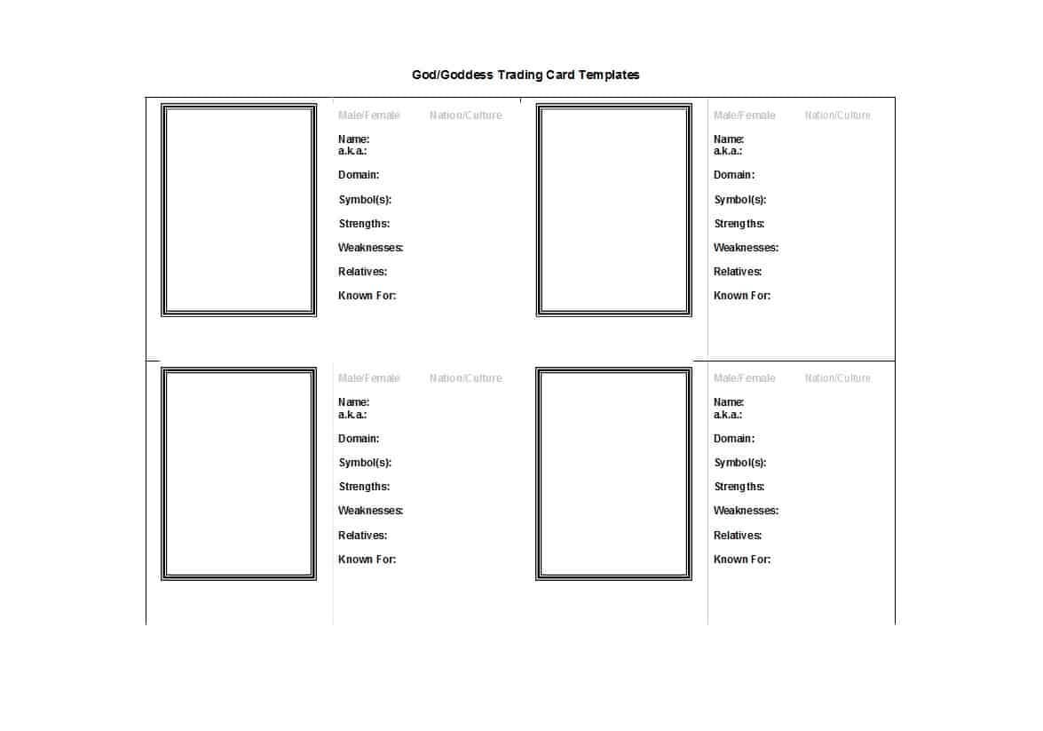 Free Trading Card Template – Zohre.horizonconsulting.co Throughout Baseball Card Template Microsoft Word