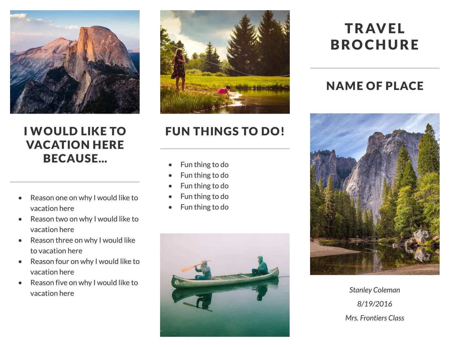 Free Tri Fold Brochure Templates & Examples [15+ Free Templates] Intended For Travel Brochure Template For Students