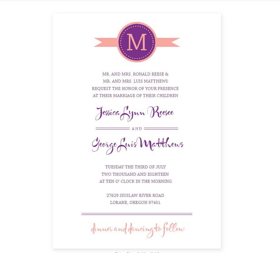 Free Wedding Program Templates You Can Customize For Free Printable Wedding Program Templates Word