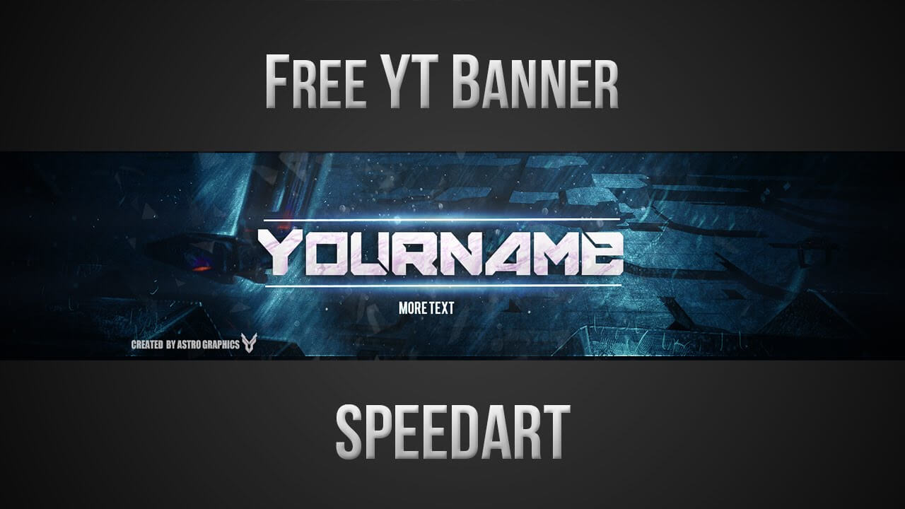 Free Youtube Banner Template (Psd) *new 2015* – Templates Throughout Yt Banner Template