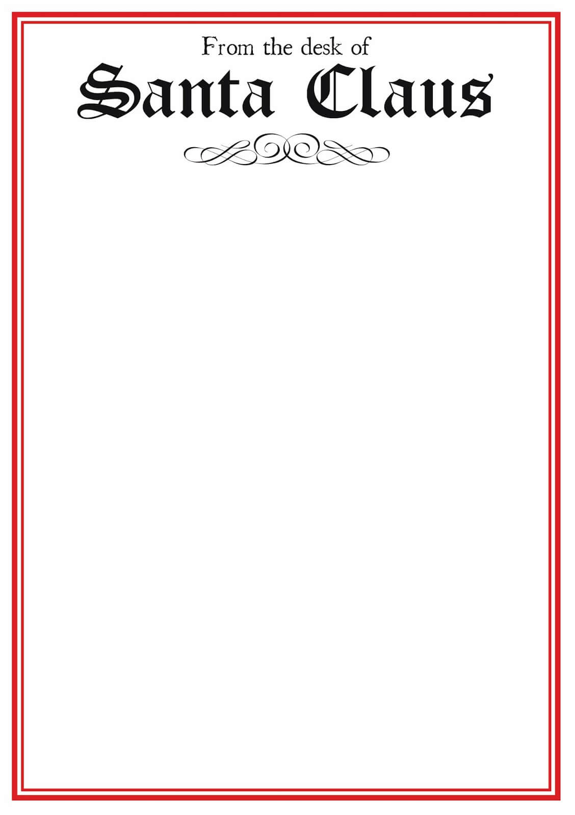 From The Desk Of Template Word – Zohre.horizonconsulting.co With Santa Letter Template Word