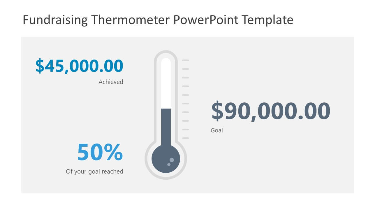 Fundraising Thermometer Powerpoint Template For Thermometer Powerpoint Template