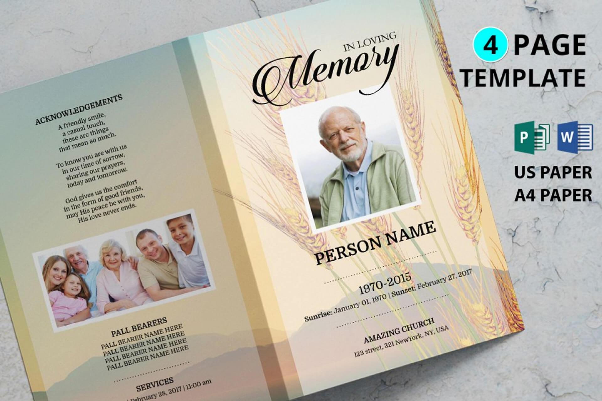 Funeral Brochure Template Word - C Punkt Regarding Memorial Brochure Template