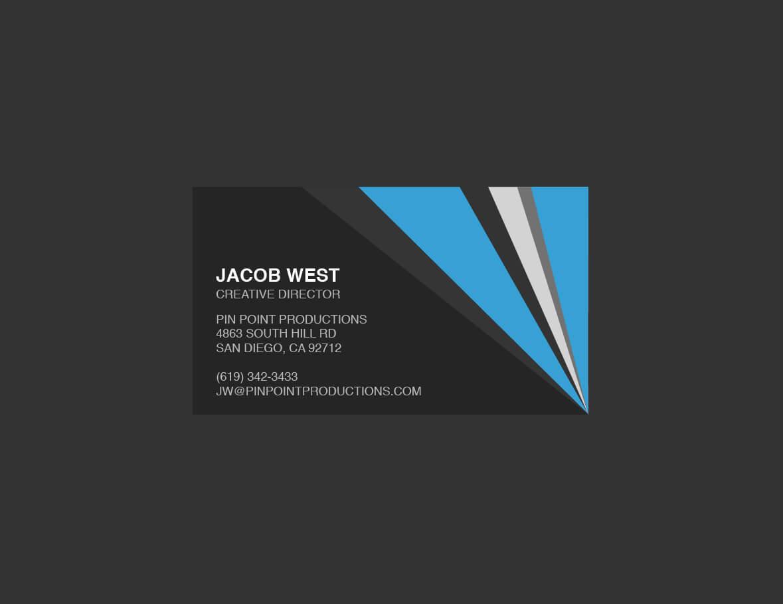 Generic Business Card Template ] - Elegant Classy Blue With Generic Business Card Template