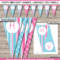 Girls Party Banner Template – Pink & Aqua In Diy Party Banner Template