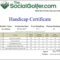 Golf Handicap Certificate Template Free Within Golf Certificate Template Free