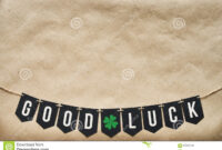 Good Luck Banner Lettering Stock Image. Image Of Craft within Good Luck Banner Template