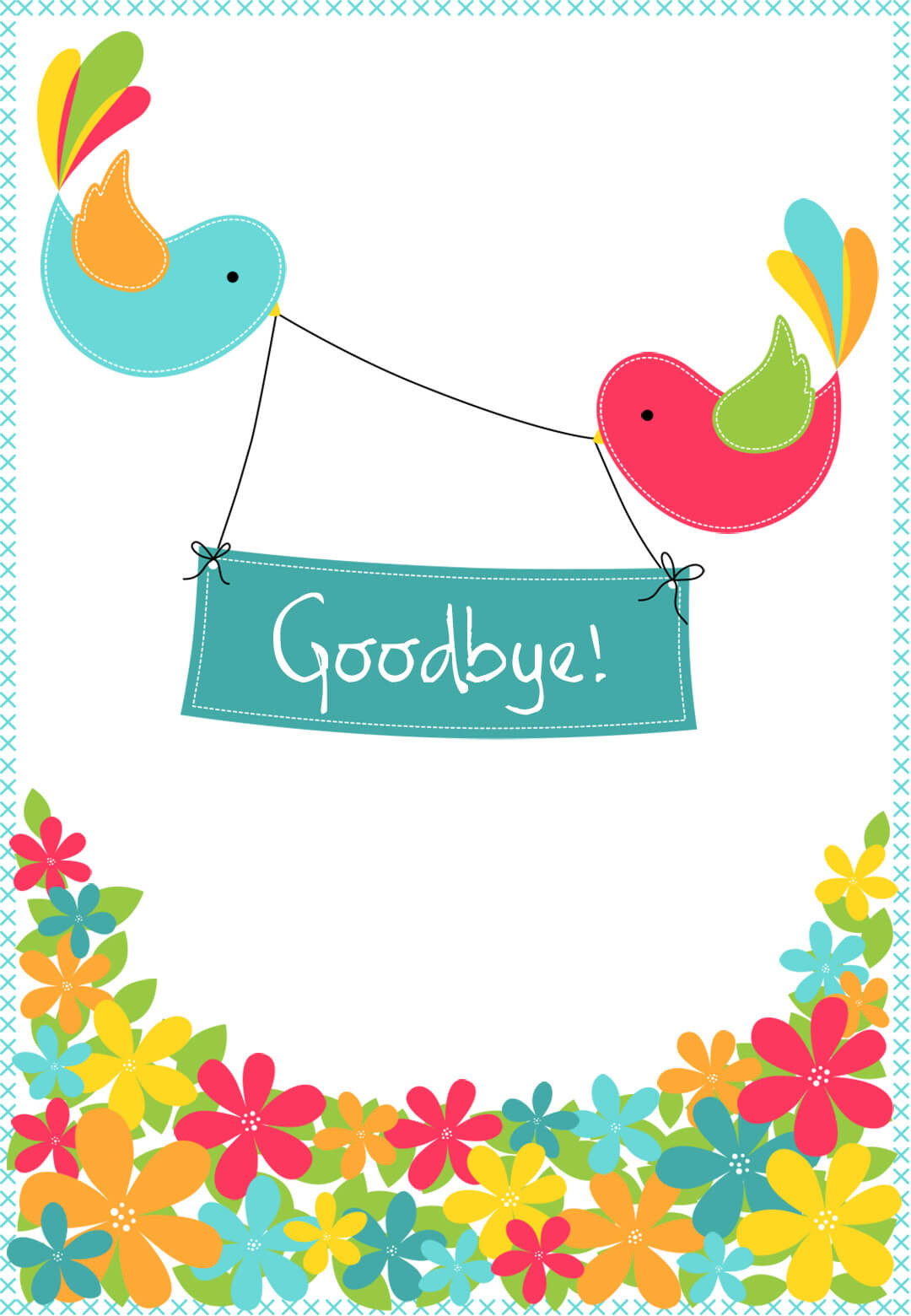 Goodbye From Your Colleagues - Good Luck Card (Free With Goodbye Card Template