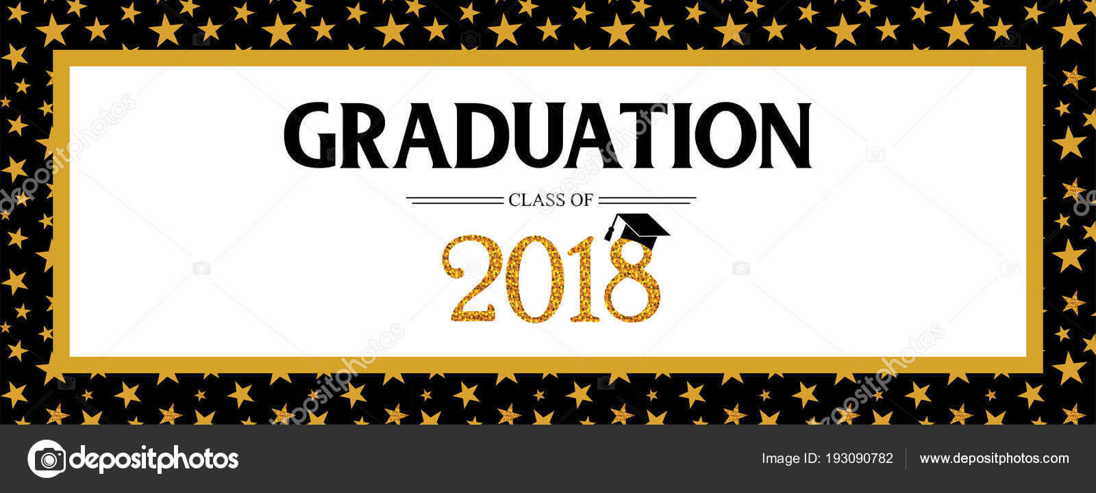 Graduation Banner Template | Graduation Class Of 2018 Pertaining To Graduation Banner Template