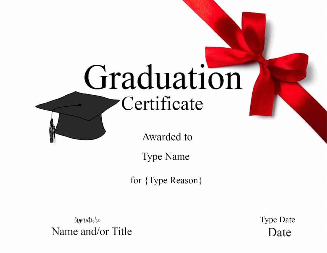 Graduation Gift Certificate Template Free Templates In Graduation Gift Certificate Template Free