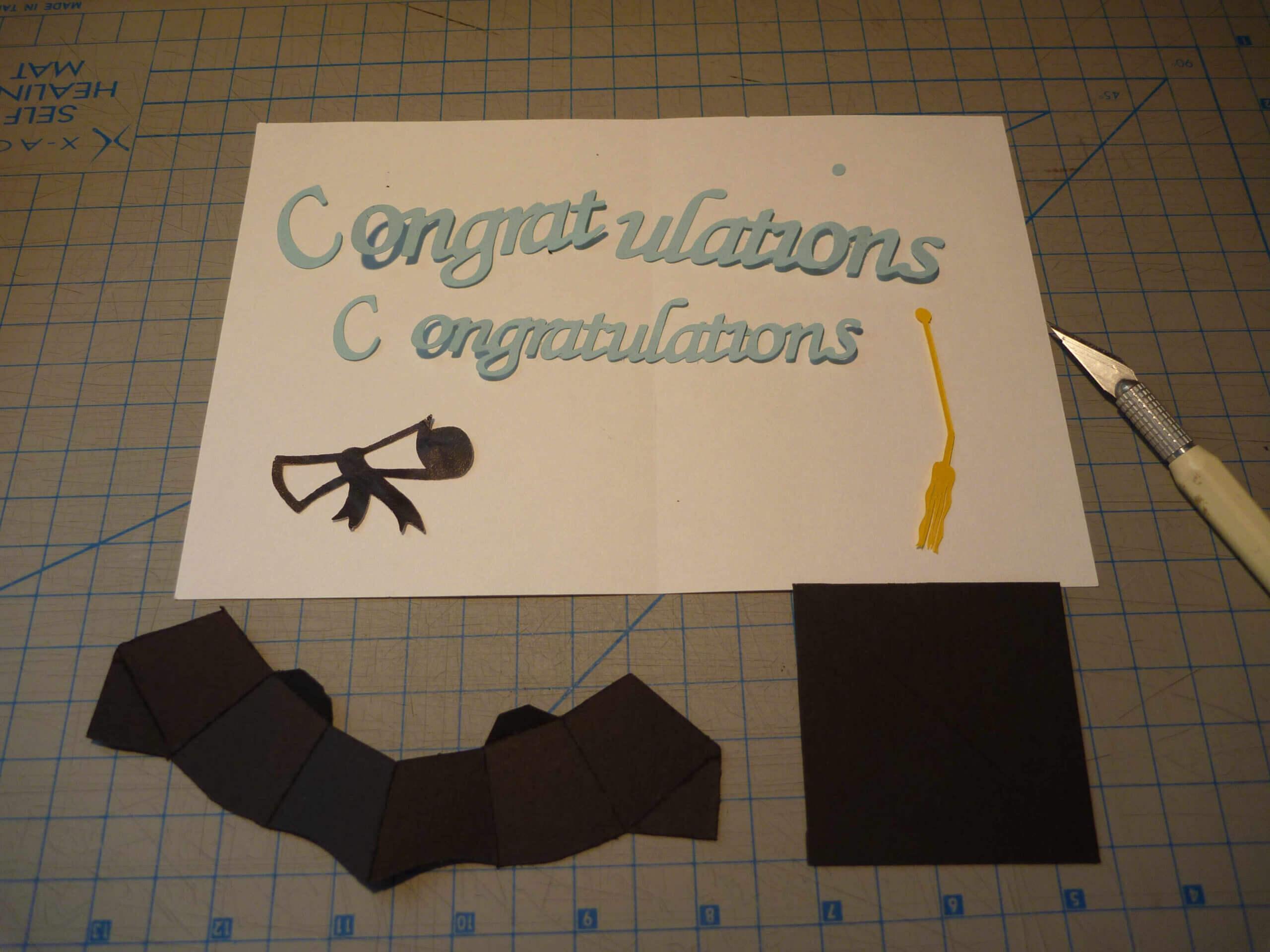 Graduation Pop Up Card: 3D Cap Tutorial – Creative Pop Up Cards Throughout Graduation Pop Up Card Template