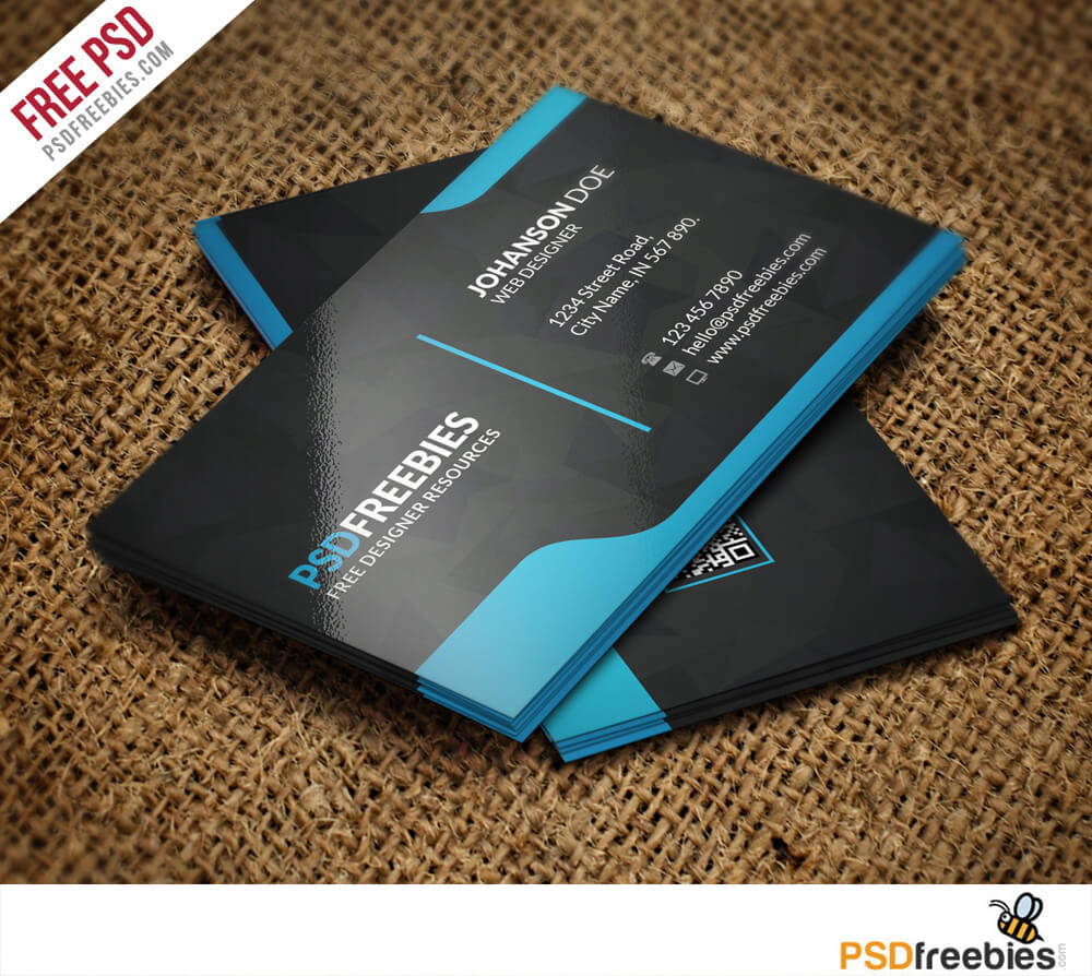 Graphic Designer Business Card Template Free Psd In Visiting Card Templates Psd Free Download
