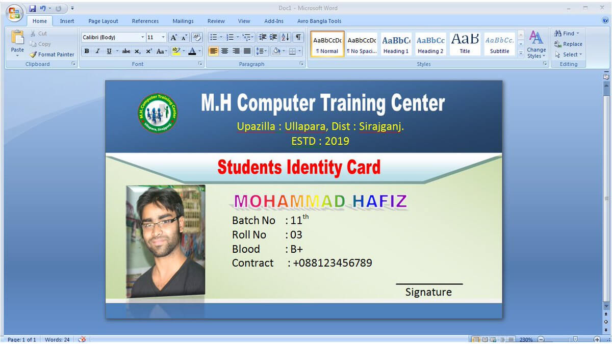 "Graphic Tutorial On Twitter: ""#idcarddesign #identitycard Throughout Id Card Template For Microsoft Word"