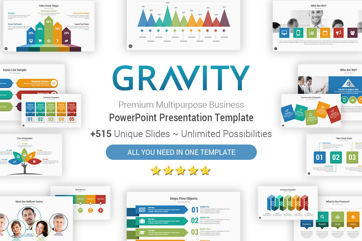 Gravity Cool Powerpoint Presentation Template – Yekpix For Powerpoint Presentation Template Size
