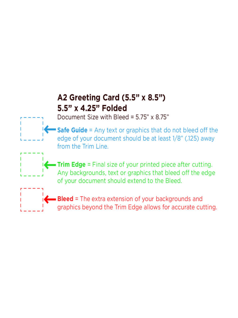 Greeting Card Template Free Download With A2 Card Template