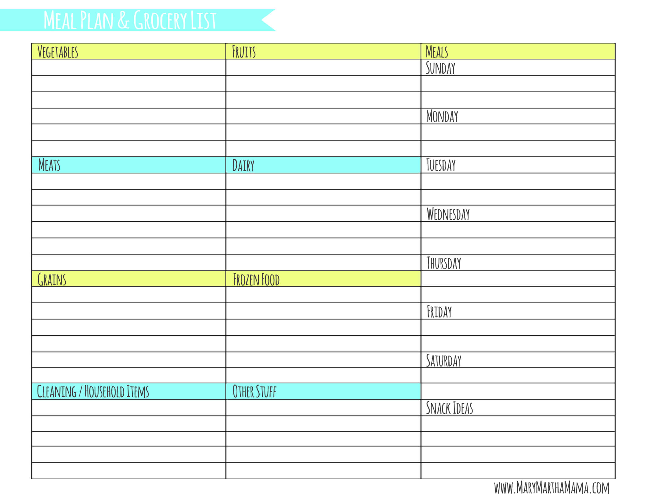 Grocery List Template 002 Ideas Free Meal Planning With Inside Weekly Meal Planner Template Word