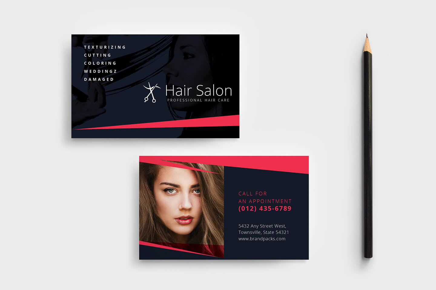 Hair Salon Business Card Template In Psd, Ai & Vector Pertaining To Hair Salon Business Card Template