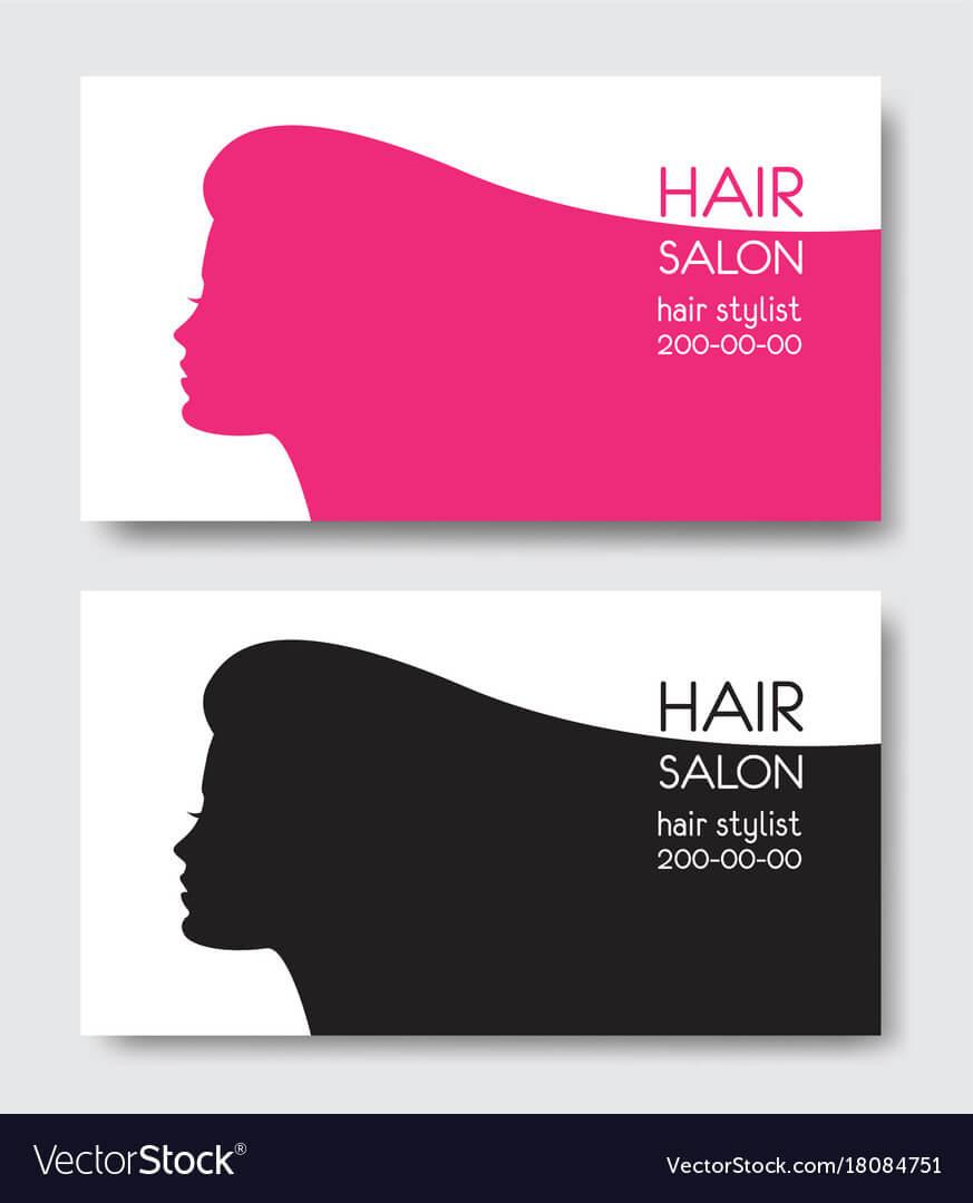 Hair Salon Business Card Templates With Beautiful For Hair Salon Business Card Template