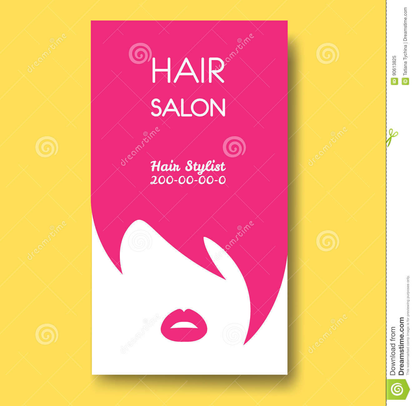 Hair Salon Business Card Templates With Pink Hair And Pink Within Hair Salon Business Card Template
