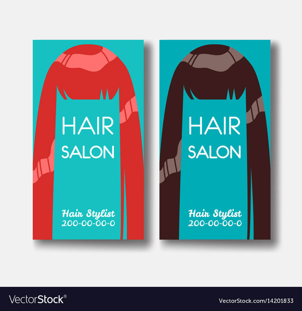 Hair Salon Business Card Templates With Red Hair Regarding Hair Salon Business Card Template