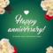 Happy Anniversary Card Template Design Template – #1454941 Regarding Template For Anniversary Card