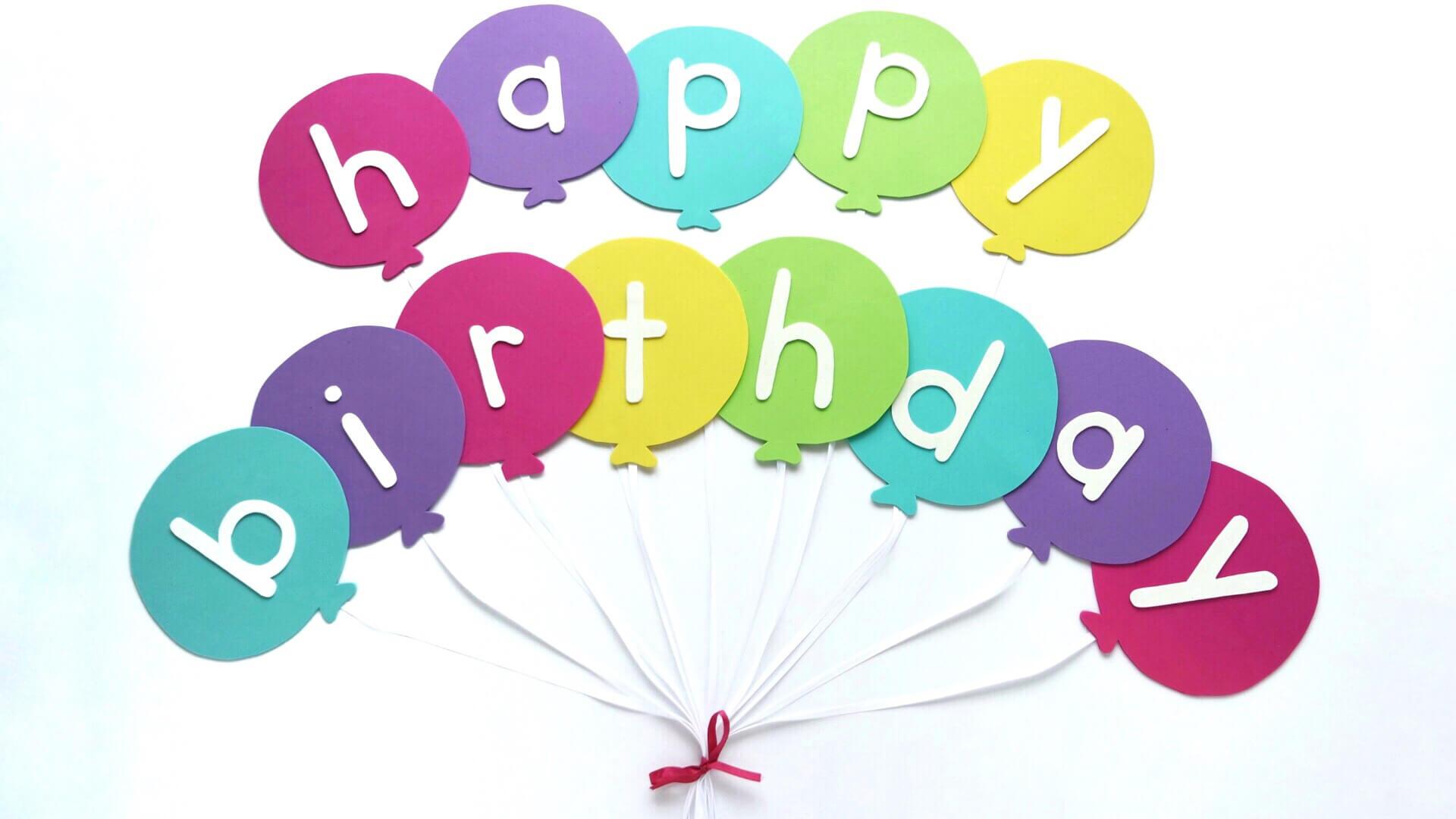 Happy Birthday Banner Diy Template   Balloon Birthday Banner In Diy Birthday Banner Template