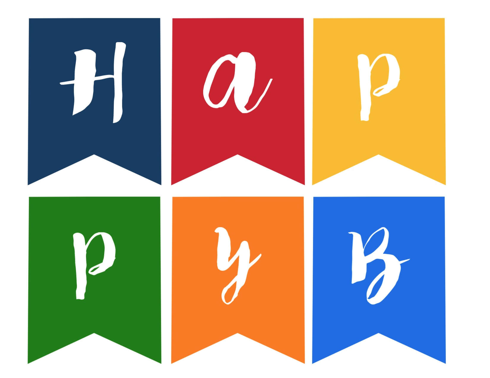Happy Birthday Banner Free Printable - Paper Trail Design Inside Free Printable Happy Birthday Banner Templates