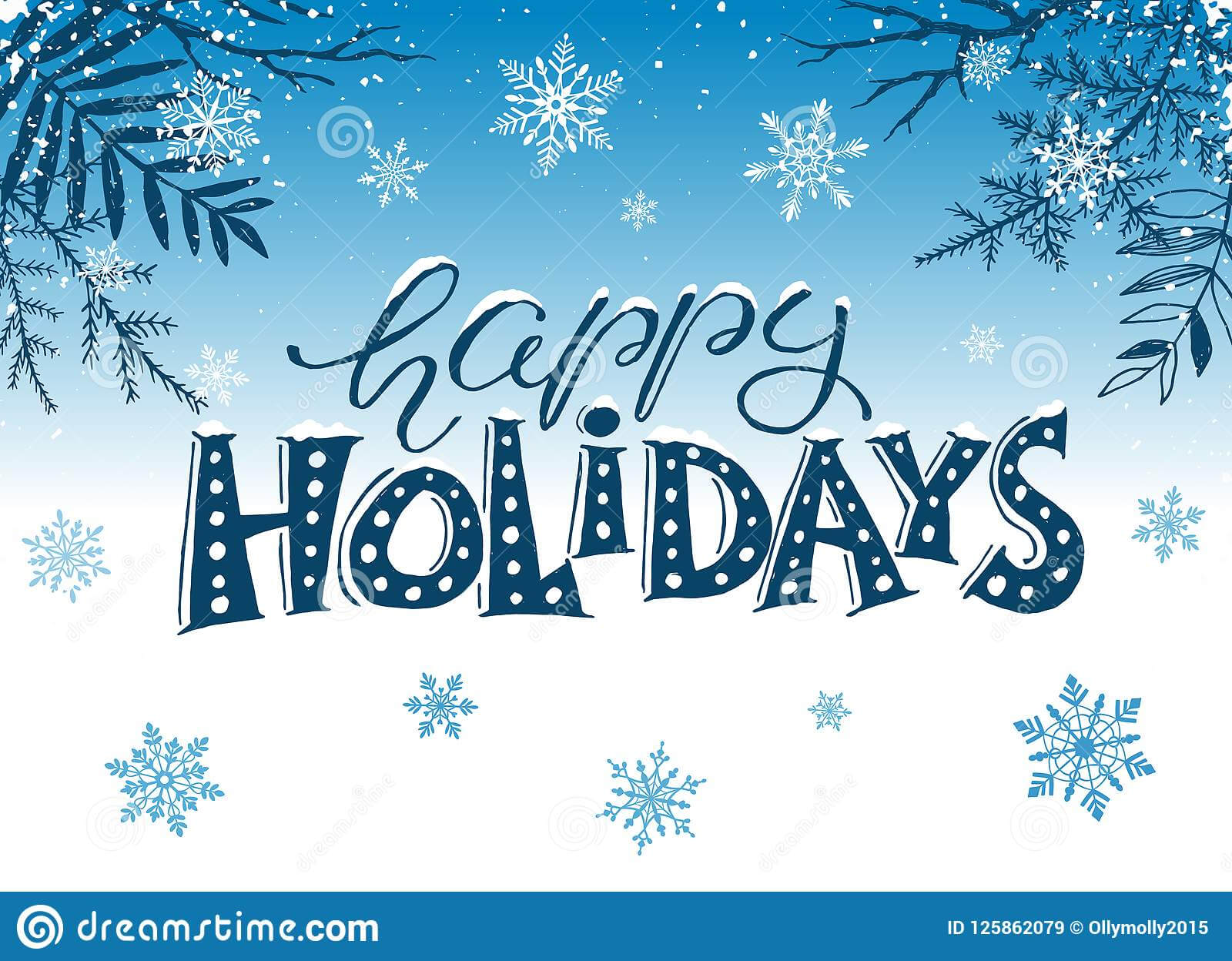 Happy Holidays Greeting Card Stock Vector – Illustration Of Intended For Happy Holidays Card Template