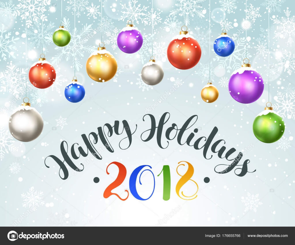 Happy Holidays Greeting Card — Stock Vector © Ollymolly Pertaining To Happy Holidays Card Template