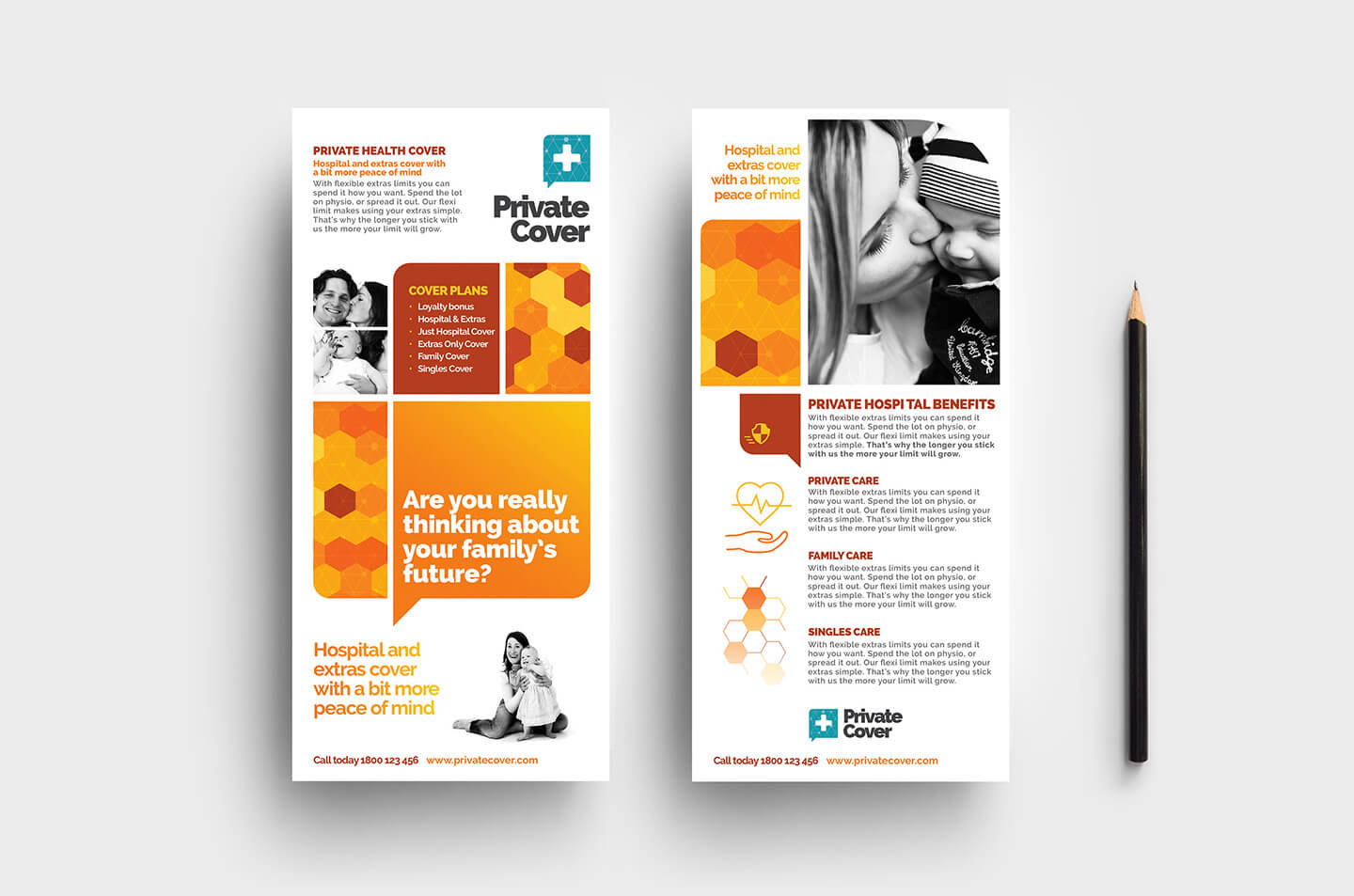 Health Insurance Dl Rack Card Template In Psd, Ai & Vector Within Dl Card Template