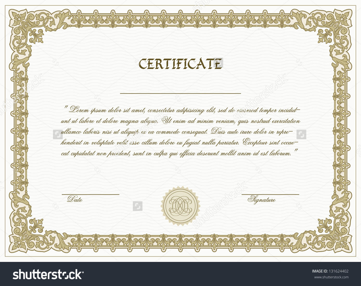 High Resolution High Res Printable Certificate Template Download Within High Resolution Certificate Template