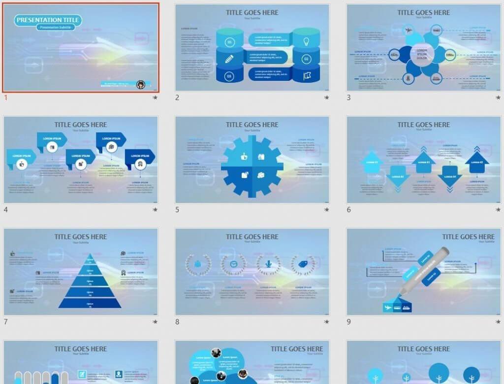 High Tech Powerpoint Template #67604 Within High Tech Powerpoint Template
