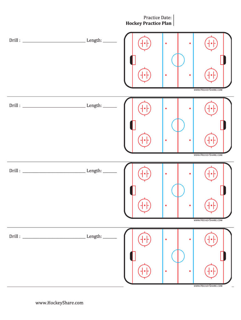 Hockey Practice Sheeyts - Fill Online, Printable, Fillable Inside Blank Hockey Practice Plan Template