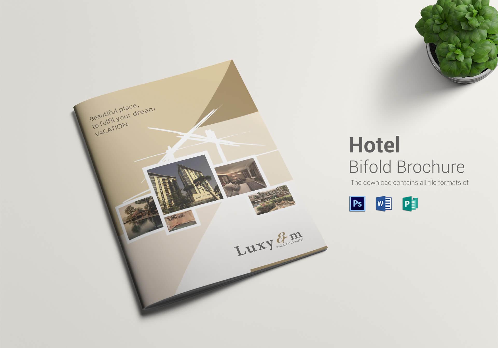 Hotel Bi Fold Brochure Template Throughout Hotel Brochure Design Templates