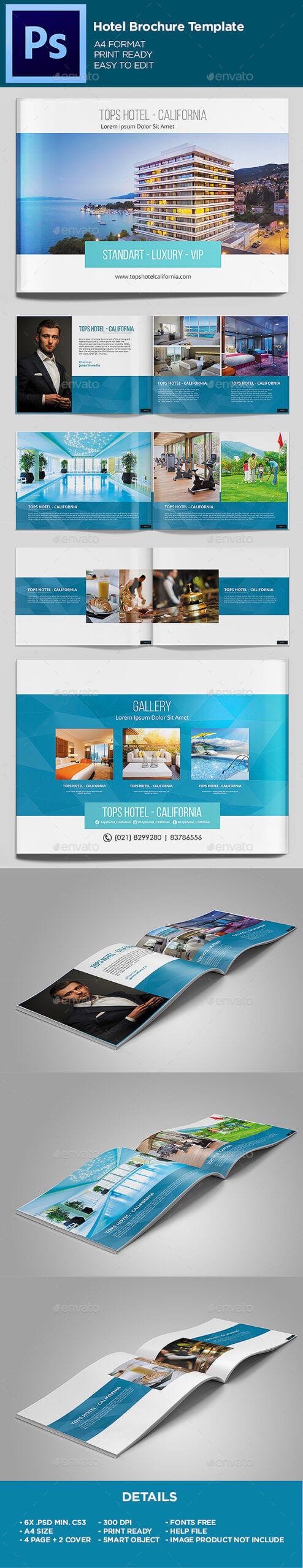 Hotel Brochure Graphics, Designs & Templates From Graphicriver Throughout Hotel Brochure Design Templates
