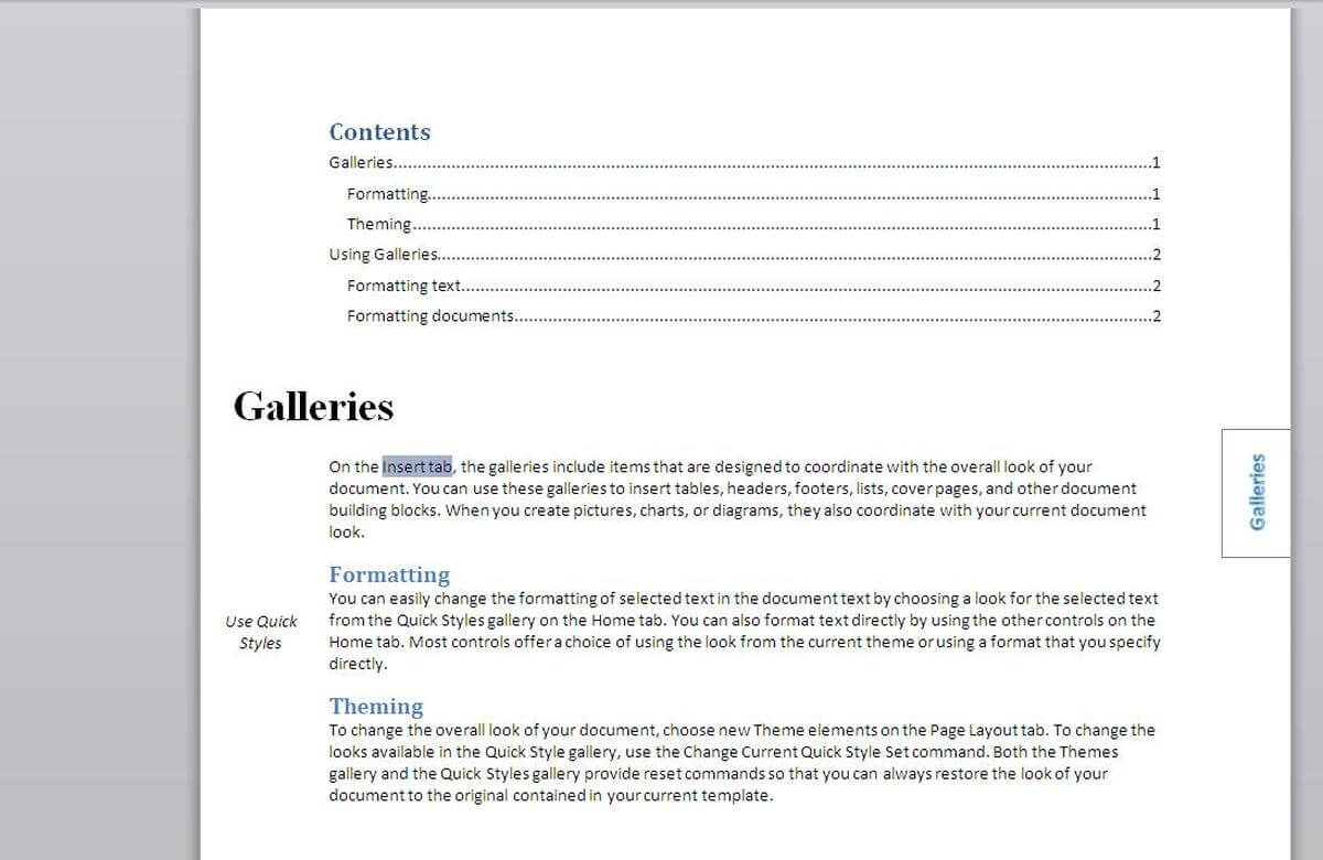 How To Add An Index To A Word Document Using Index Tags Regarding Contents Page Word Template